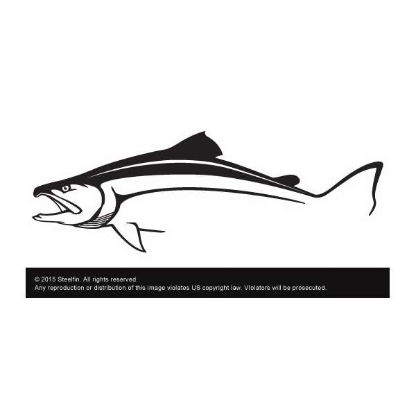 Steelfin Salmon Decal Small STEELFIN-SALMON-DECAL-SMALL