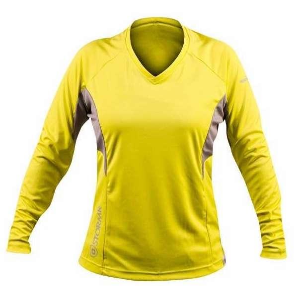 Stormr rw115w 63 womens long sleeve uv shield shirt hi vis for Uv long sleeve shirt womens