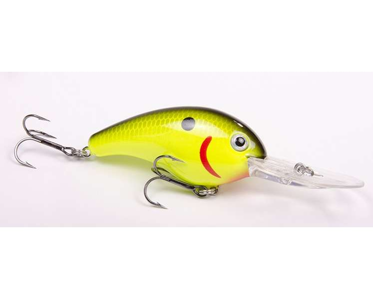 Strike king pro model series 5xd lure black back chartreuse for Chartreuse fishing lures