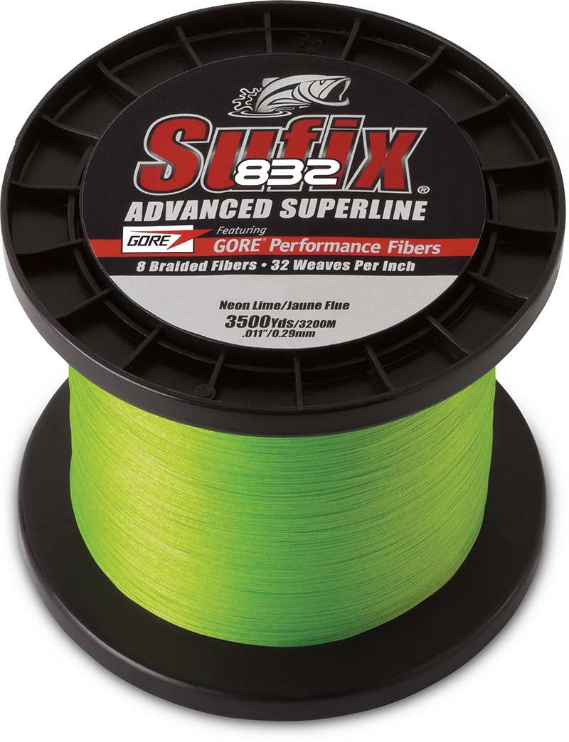 Sufix 832 Advanced Superline Neon Lime 6lb 3500yds Tackledirect