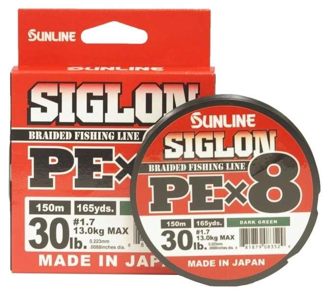 Sunligne Siglon Braided Ligne X8 600M P.E 1.7 30LB Multi Color 7122