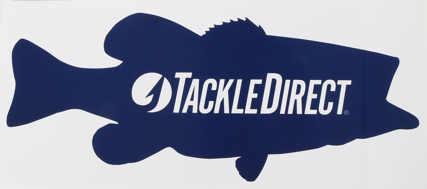 "TackleDirect Bass Decal - 10"" - Navy on White"