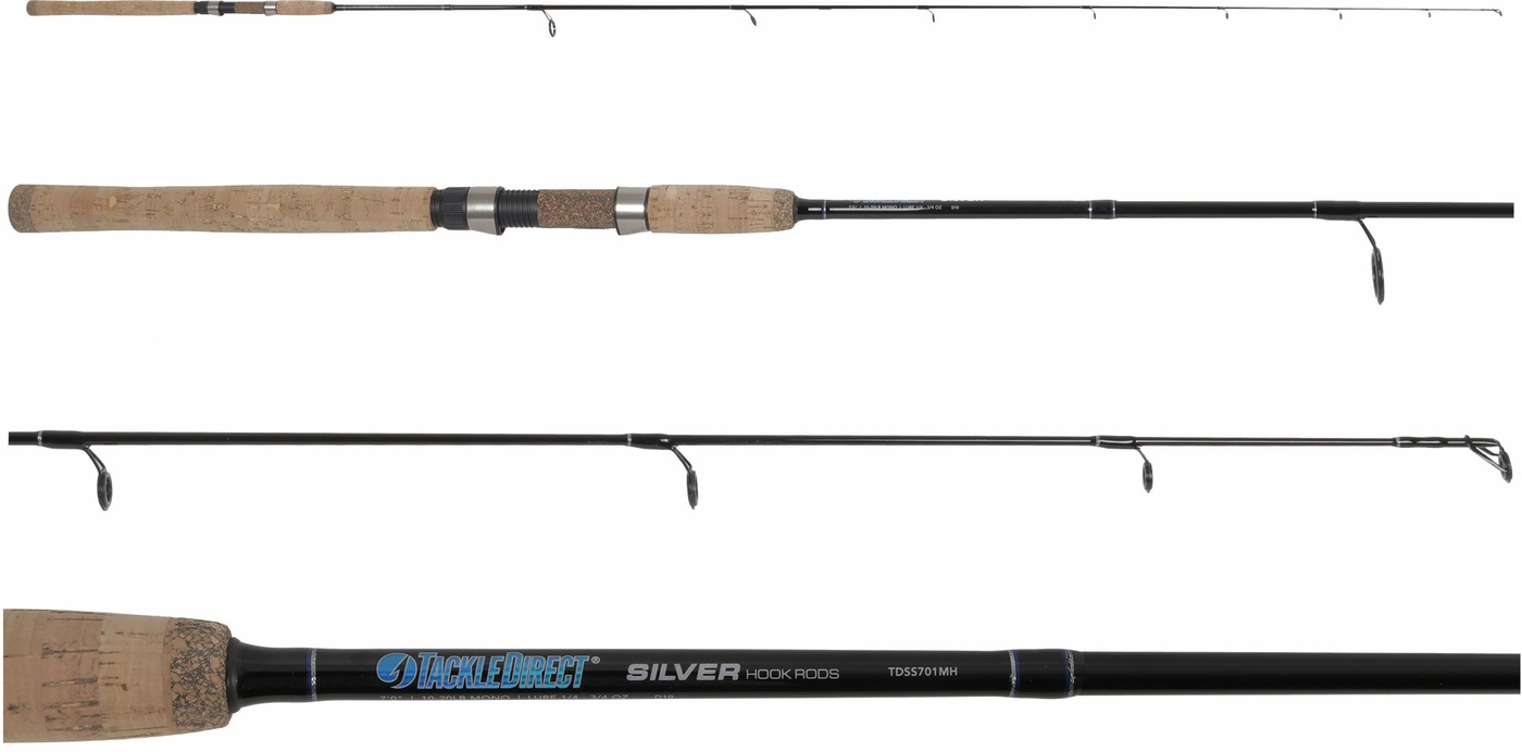 Tackledirect tdss701mh silver hook series spinning rod for Personalized fishing pole