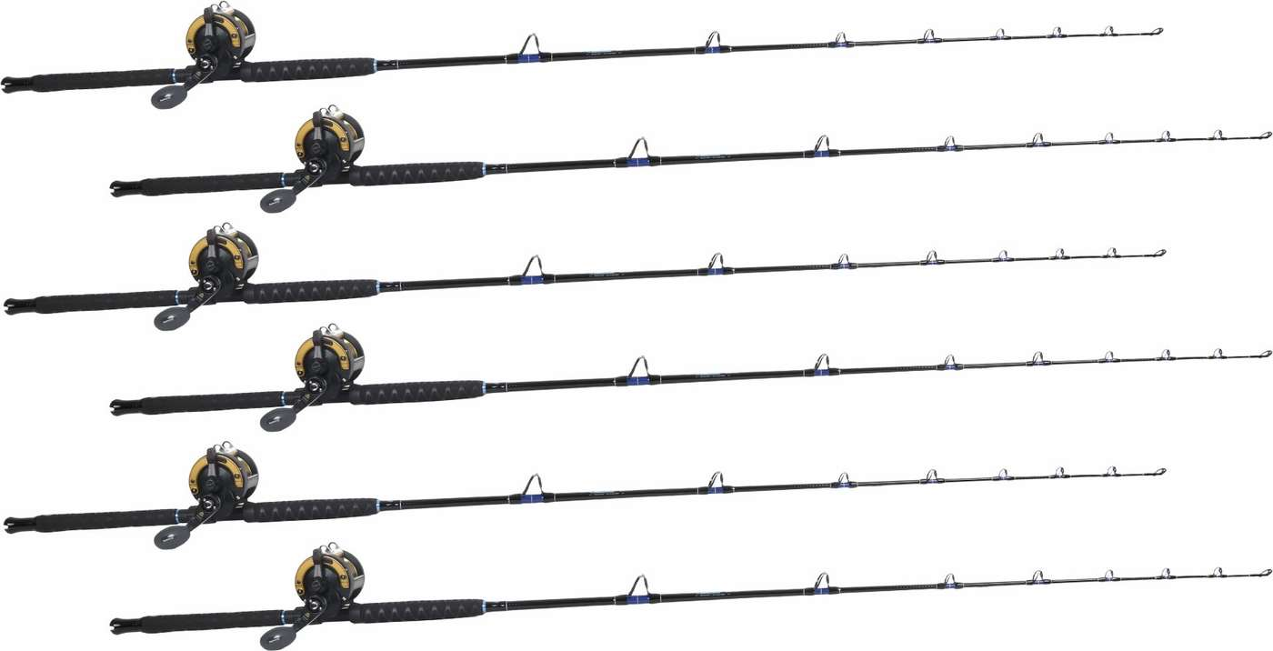 TackleDirect Silver Hook / Shimano TLD TLD30IIA White Marlin Package w/ 6  Combos