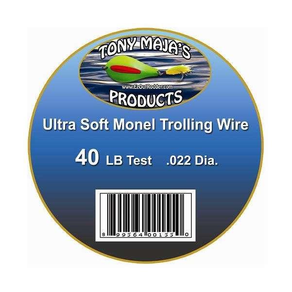 Tony Maja Ultra Soft Monel Trolling Wire 40lb 2600ft 5lb Spool