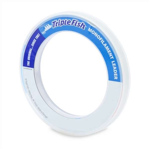 Triple fish monofilament leader 50yds clear tackledirect for Best monofilament fishing line for saltwater