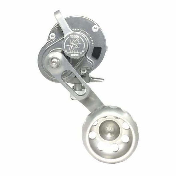 Seigler Trivial Game Lever Drag Reel - Left Hand Smoke/Silver