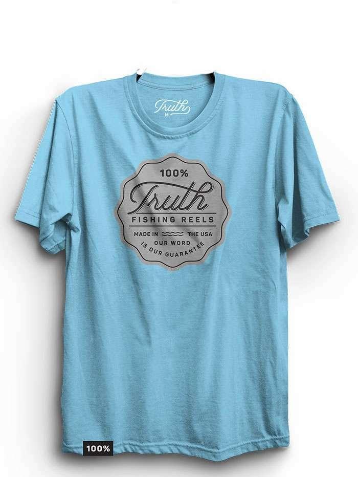 Truth reels short sleeve t shirt ocean blue tackledirect for Ocean blue t shirt