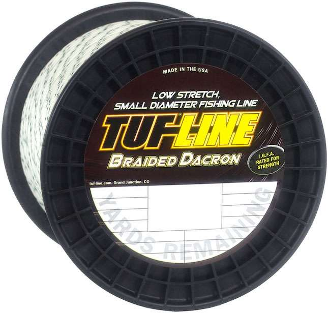 Tuf line 40 lb braided dacron 2 500 yards for Dacron fishing line