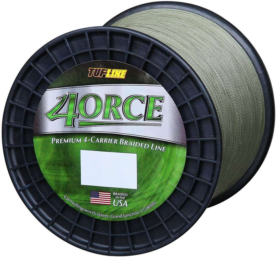 Tuf line 4orce green 2 500 yd 80 lb tackledirect for 80 lb braided fishing line