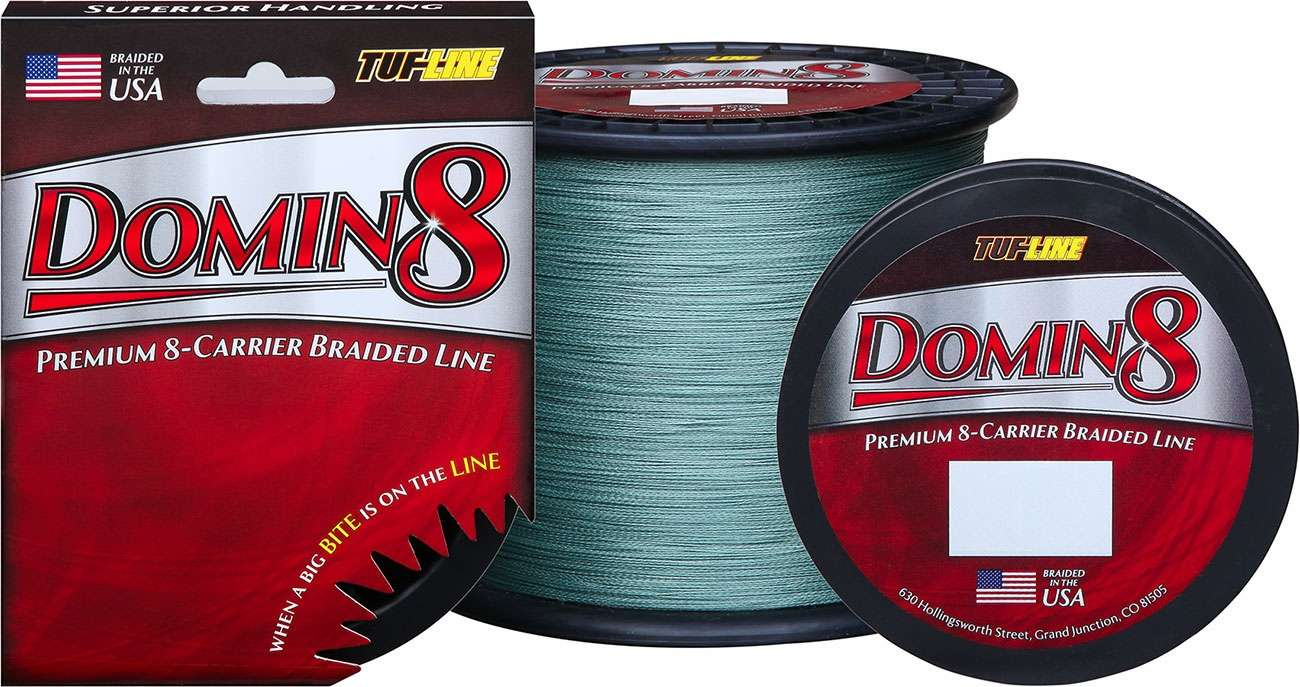 Tuf line domin8 braided fishing line 30 lb tackledirect for 30 lb fishing line