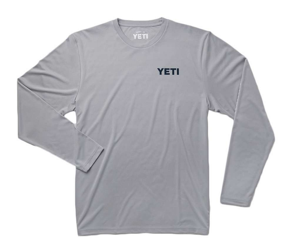 Yeti billboard long sleeve sun shirt xl for Fly fishing sun shirt