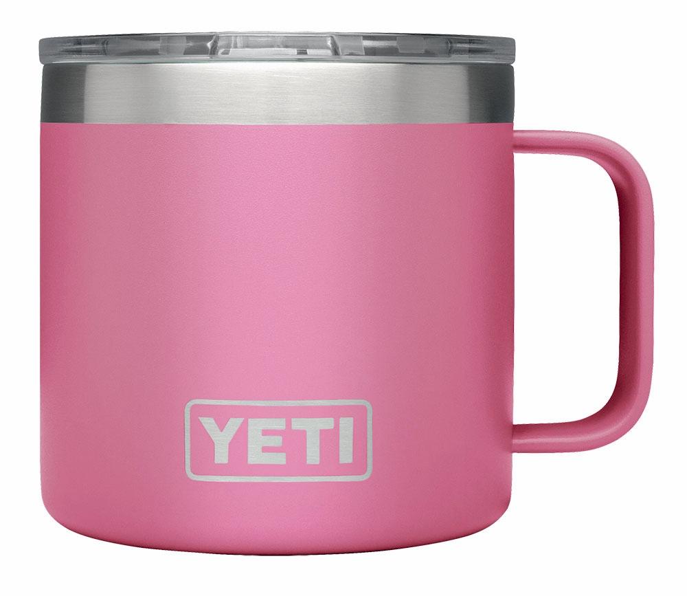 56f280d1b75 YETI Rambler 14oz Mug - Limited Edition Harbor Pink - TackleDirect
