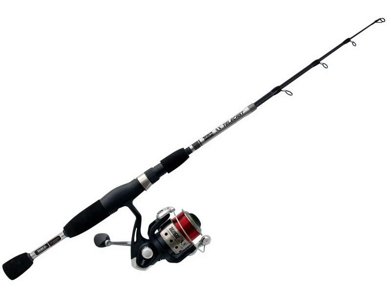 Zebco 33sp605mtel 33 telecast spinning combo tackledirect for Saltwater fly fishing combo