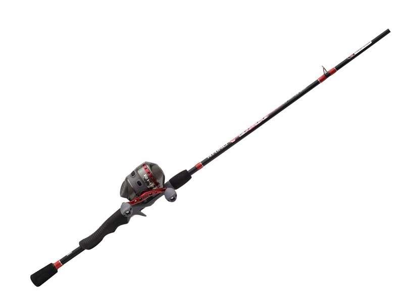 "Zebco 33 Platinum 2 Piece Fishing Rod and Reel Spincast Combo 5/'6/"" bonus tackle"