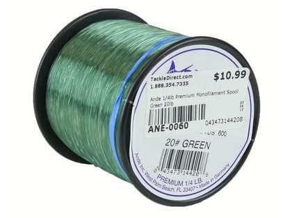 Ande Premium Mono 1/4 Lb. Spool 20 Lb. Test Green