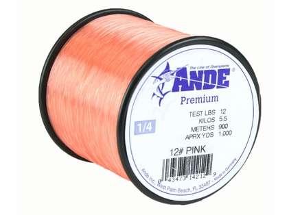 Ande Premium Mono 1/4 Lb. Spool 12 Lb. Test Pink