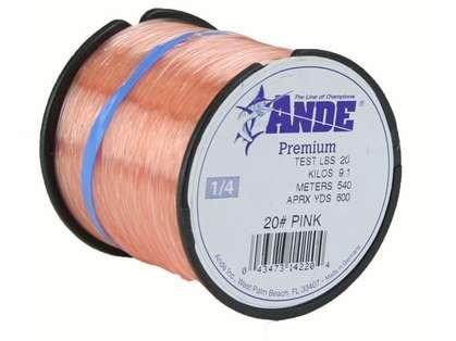 Ande Premium Mono 1/4 Lb. Spool 20 Lb. Test Pink