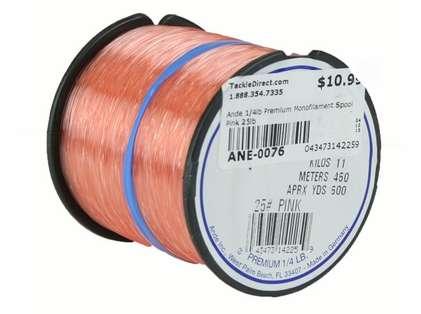 Ande Premium Mono 1/4 Lb. Spool 25 Lb. Test Pink