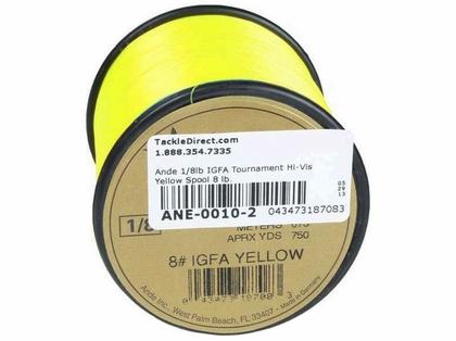 Ande IGFA Hi-Vis Yellow 1/8 lb. Spool 8lb