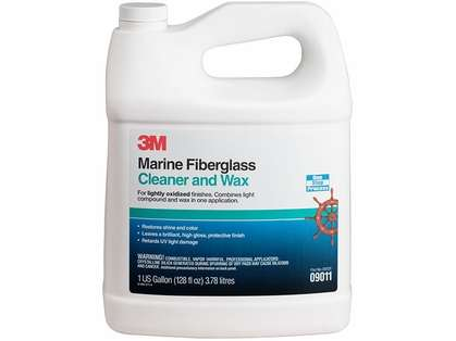 3M Marine 9011 Fiberglass Cleaner and Wax - Gallon