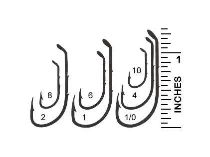 Mustad 92641 1/0 Hollow Point Beak Hook