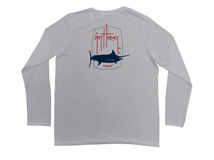 Aftco Guy Harvey Barrel Logo Performance Long Sleeve Shirt