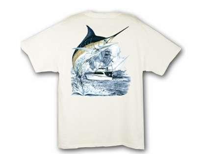 Aftco Guy Harvey Marlin Boat Mens Tee Shirts