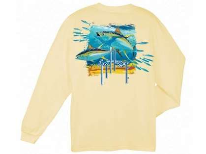 Aftco Guy Harvey Tuna Splash LS T-Shirt - Small