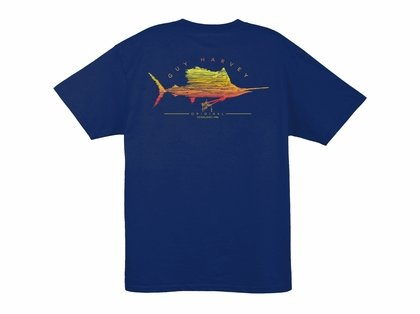 Aftco Guy Harvey Sailfish Scribble Short Sleeve T-Shirt