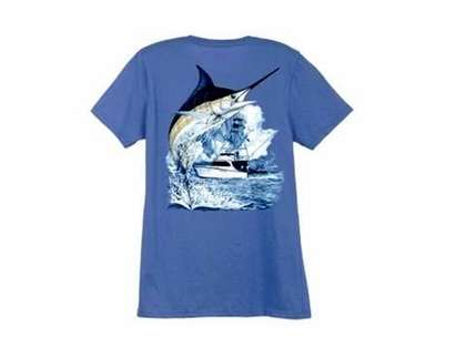 Aftco LTH3301 Guy Harvey Marlin Boat Ladies Tee Shirt - XL