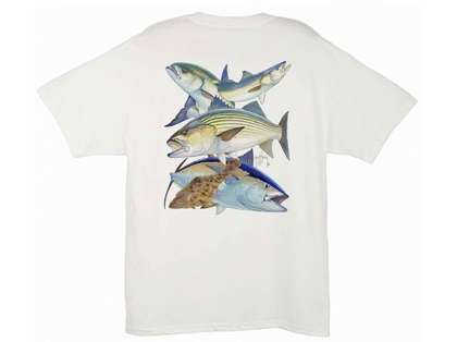 Aftco MTH1262 Guy Harvey Northeast Collage Tee Shirt - Size Medium