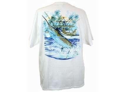 Aftco MTH1591 Marlin and Boat Tee Shirt - XL