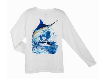Aftco MTH2301 Guy Harvey Marlin Boat LS Tee Shirt - XXL