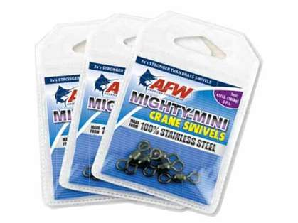 AFW FWSS14B-A 78Lb. 10pk Stainless Steel Crane Swivels Black