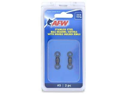 AFW FWV05B-A Size #5 335lb Stainless Steel Ball Bearing Swivels, 2pc