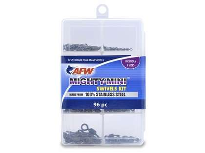 AFW TKB00008 Mighty Mini Stainless Steel Swivels Kit, 96 Pieces