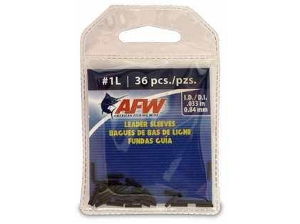 American Fishing Wire J01LB-A #1L Single Barrel Sleeves Black 36pc