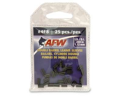 American Fishing Wire J04F8B-A #4F8 Double Barrel Sleeves Black 25pc