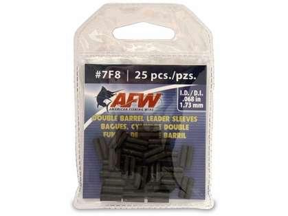 American Fishing Wire J07F8B-A #7F8 Double Barrel Sleeves Black 25pc
