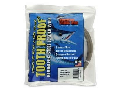 American Fishing Wire S11C-01 ToothProof Stainless Steel Leader Wire