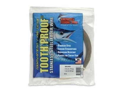 American Fishing Wire S12C-01 ToothProof Stainless Steel Leader Wire