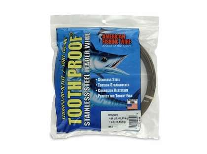 American Fishing Wire S13C-01 ToothProof Stainless Steel Leader Wire