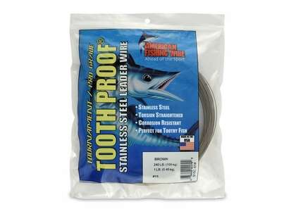 American Fishing Wire S15C-01 ToothProof Stainless Steel Leader Wire