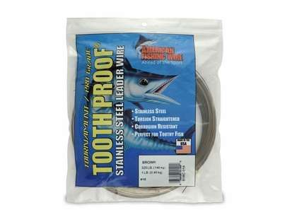 American Fishing Wire S18C-01 ToothProof Stainless Steel Leader Wire