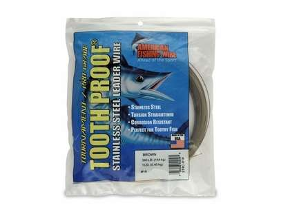 American Fishing Wire S19C-01 ToothProof Stainless Steel Leader Wire