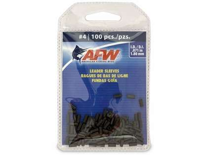 American Fishing Wire J04B-B #4 Single Barrel Sleeves Black 100pc
