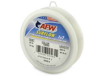 American Fishing Wire Surflon 1 X 7 Nylon Coated Stainless Steel Wire