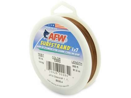 American Fishing Wire Surfstrand 1x7 Stainless Steel Leader Wire