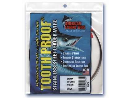 American Fishing Wire S07C-.25 7 Toothproof Leader Wire Brown
